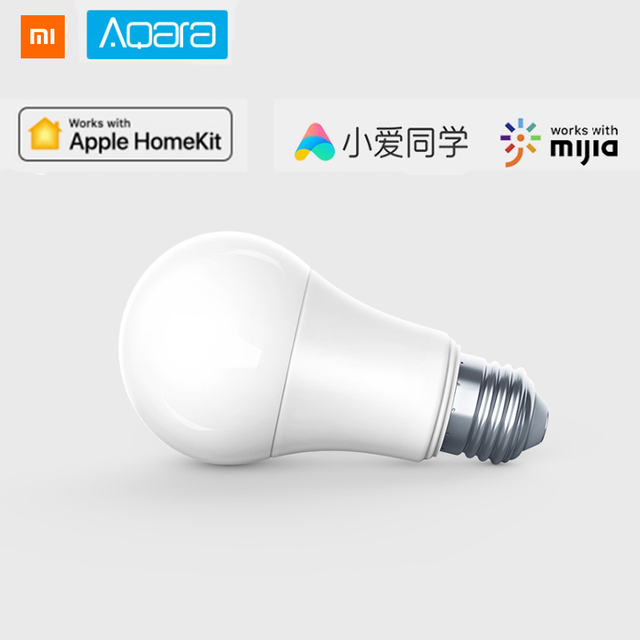 Oryginalny Xiaomi Aqara 9 w E27 2700 k-6500 k 806lum Inteligentny Biały Kolor Żarówka LED Światła Pracy Z home Kit I MIjia app