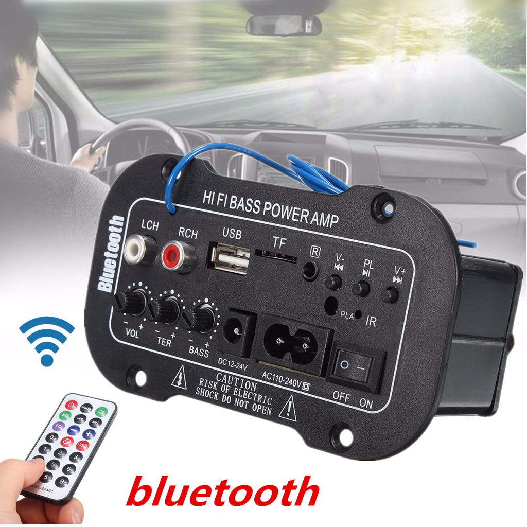 50W <font><b>Amplifier</b></font> Board <font><b>Audio</b></font> bluetooth Amplificador USB FM Radio TF Player Subwoofer <font><b>DIY</b></font> <font><b>Amplifiers</b></font> For <font><b>Car</b></font> Truck RV Camper Etc image