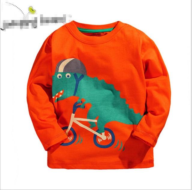 2017 newest baby boy dinosaur t shirt print style kids boys fashion