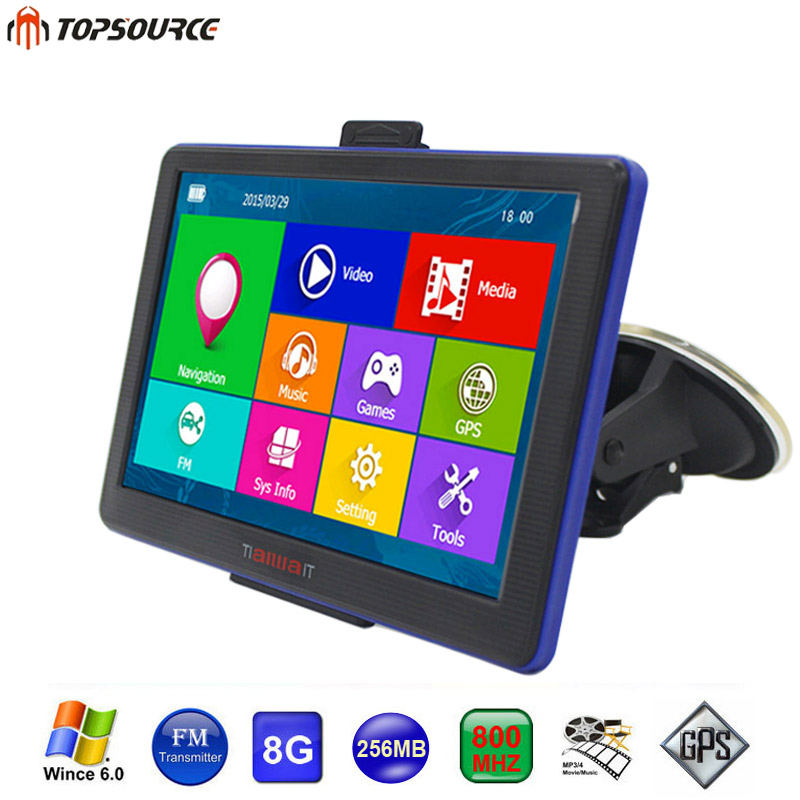 Topsource Hd  Portable Car Gps Navigation Win Cegb Mhz Map For Europeusacanada Lifetime Maps And Traffic