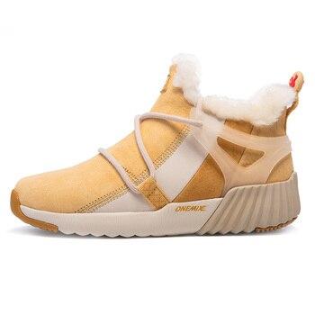 ONEMIX Winter Men's Boots Keep Warm Wool Trekking Sneakers Outdoor Unisex Mountain Waterproof Hiking Shoes Running Shoes for Man 9