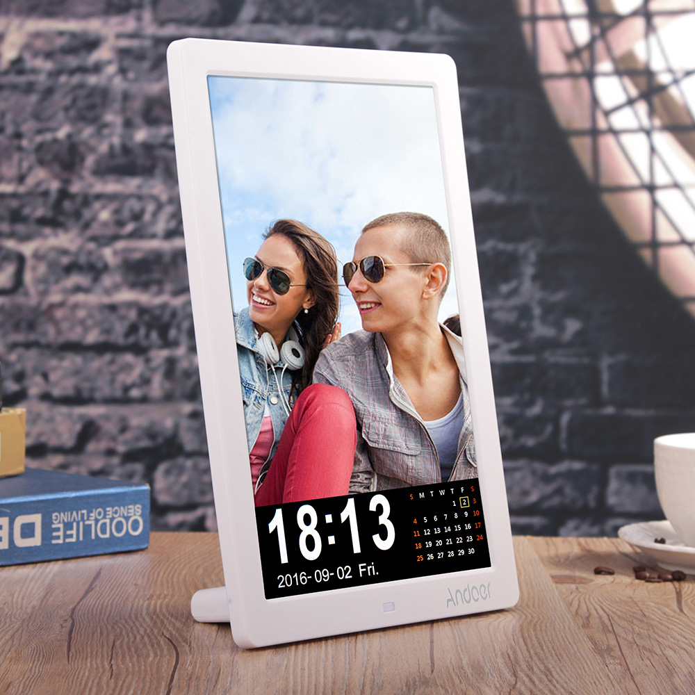 Andoer 12 led hd digital photo frame 1280 800 desktop picture andoer 12 led hd digital photo frame 1280 800 desktop picture frame mp3 mp4 e book calender alarm clock with remote control in digital photo frame from jeuxipadfo Image collections