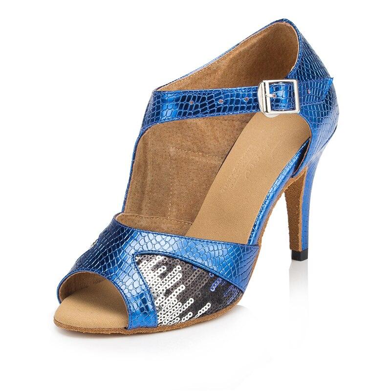 Good Quality Ladies Latin Dancing Shoe 2 Colors 8.5 cm