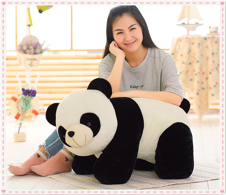 stuffed toy about 70cm prone panda plush toy panda doll soft throw pillow birthday gift,Valentine's Day, Xmas gift 0433 huge 105cm prone tiger simulation animal white tiger plush toy doll throw pillow christmas gift w7973