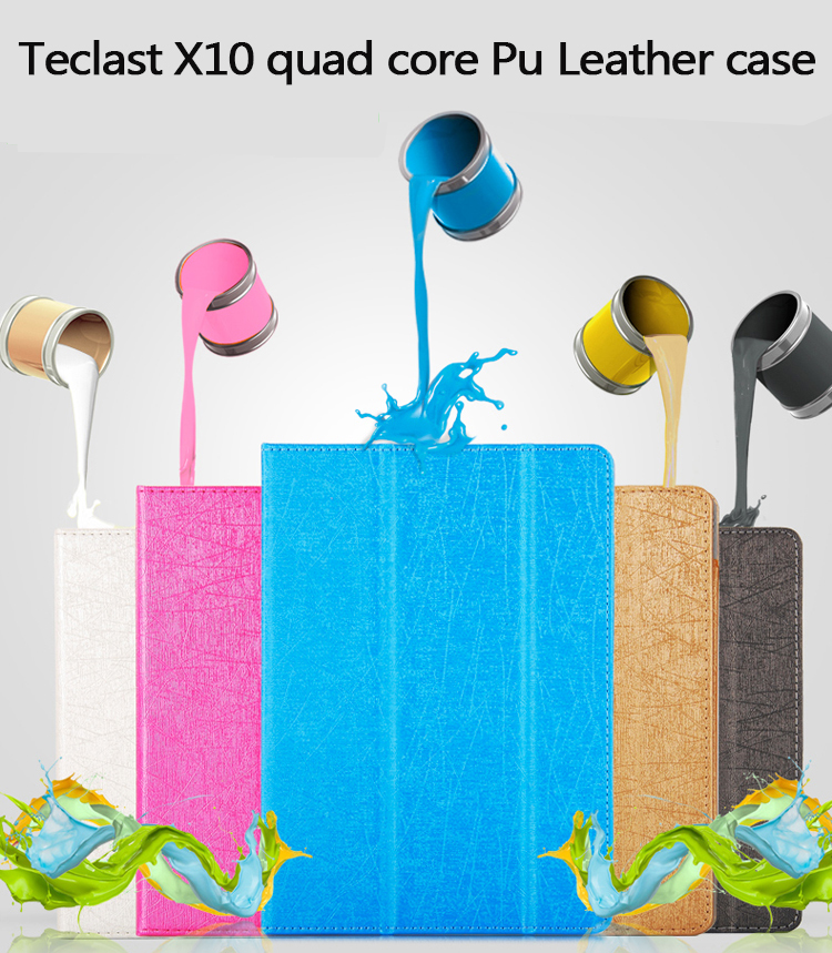 Fashion 2 fold Folio PU leather stand cover case for Teclast X10 Quad core/ 98 Octa core 10.1inch tablet pc цена 2017