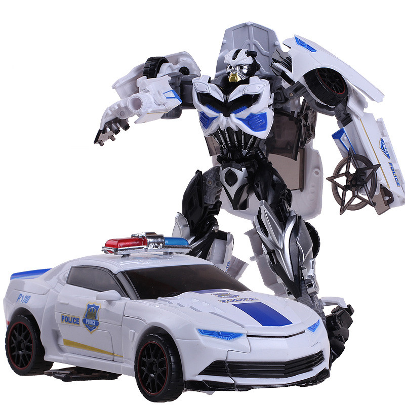 Plastic ABS + Alloy Robot Car Transformation  Kids Toys Deformation Children Action Figures Brinquedos Classic Model boys Gifts