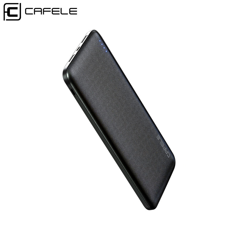 CAFELE 10000mAh <font><b>Power</b></font> <font><b>Bank</b></font> For iPhone Samsung Huawei Xiaomi Mobile Phone Dual USB Portable External Battery Charger Powerbank image