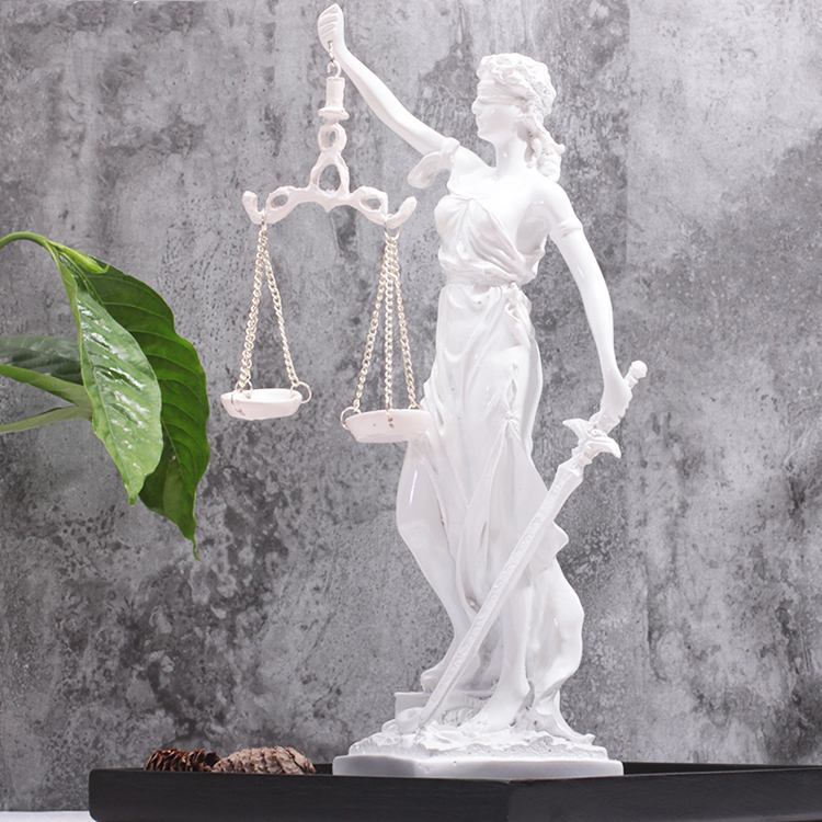 Greek justice goddess statue Fair Angels resin sculpture People ornaments Vintage home decoration accessories Office crafts