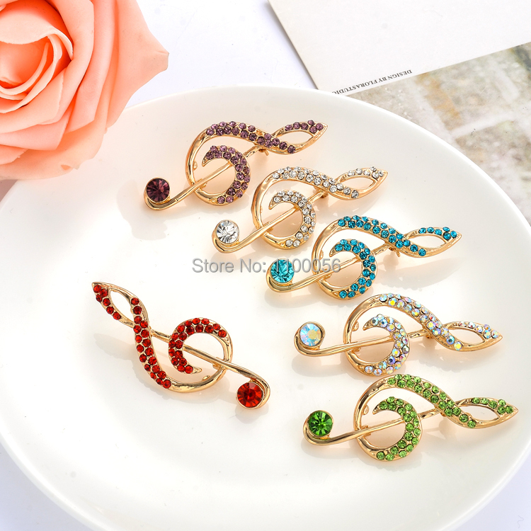free shipping 2015 cheap small wholesale rhinestone brooch women music note broche fancy broach. Black Bedroom Furniture Sets. Home Design Ideas
