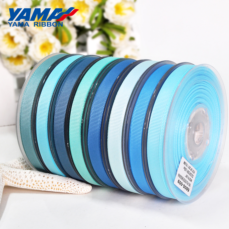 YAMA 25 28 32 38 Mm 100 Yards/lot Blue Grosgrain Ribbon Perfect For Wedding Decoration Crafts And Gifts Packing Woven Ribbons