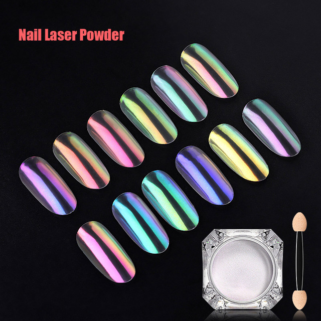 1 pc de Arte de uñas brillo polvos Ultra-fina uñas pigmento brillante poder para uñas HS11