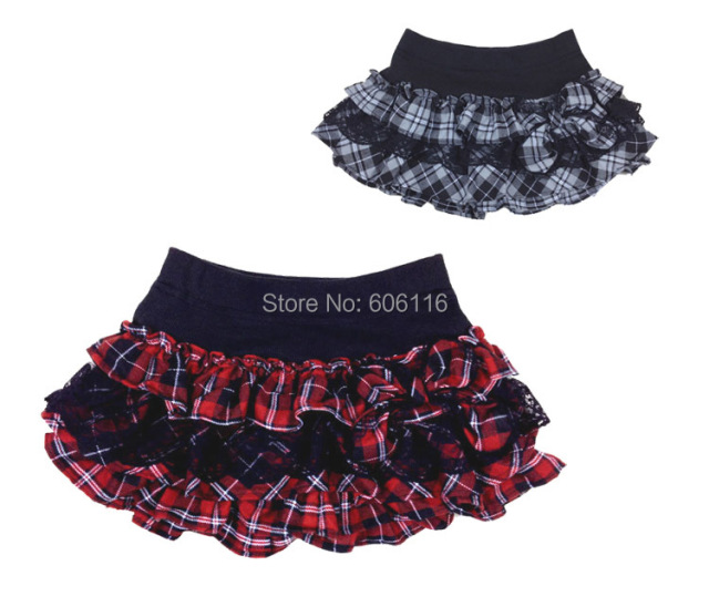 Newest retail Children/kids/girls Spring/Autamn/Winter culottes Skirt /Pants Skirt/ plaid Divided Skirt with bow( 3 to 12 years)