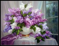Embroidery Counted Cross Stitch Kits Needlework Crafts 14 ct DMC Color DIY Arts Handmade Decor Lilac by the window