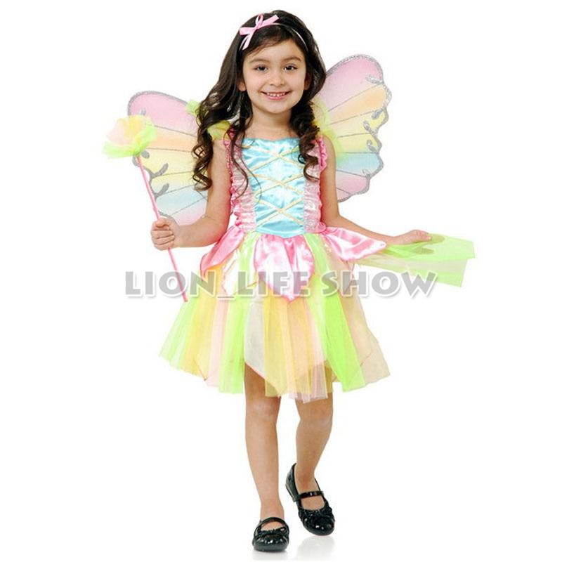 sweet rainbow angel halloween costume for kids girls princess - Kids Angel Halloween Costume