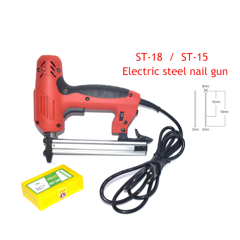 Electric ST15/ST18 Steel Nail Gun Concrete Steel Nail Gun Wire Slotting Tools