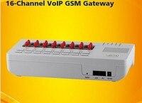 16 puerto de entrada voip puerta SIP gateway GoIP-16 protocolos VoIP estándar abiertos (ITU H.323 V4 e ifet SIP V2)