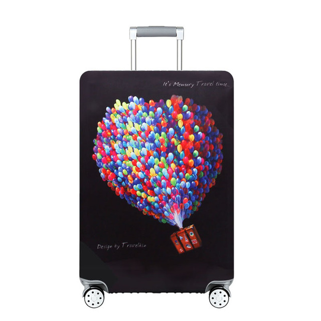 """Thicker Travel Suitcase Protective Cover Luggage Case Travel Accessories Elastic Luggage Dust Cover Apply to 18""""-32"""" Suitcase"""