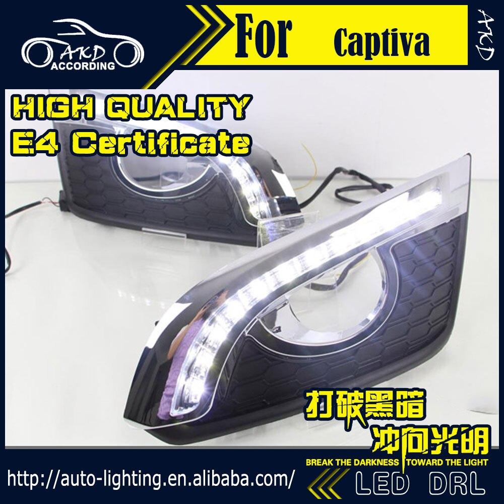 Car styling led daytime running light for chevrolet captiva drl 2015 2017 captiva led drl fog light cover front lamp auto parts