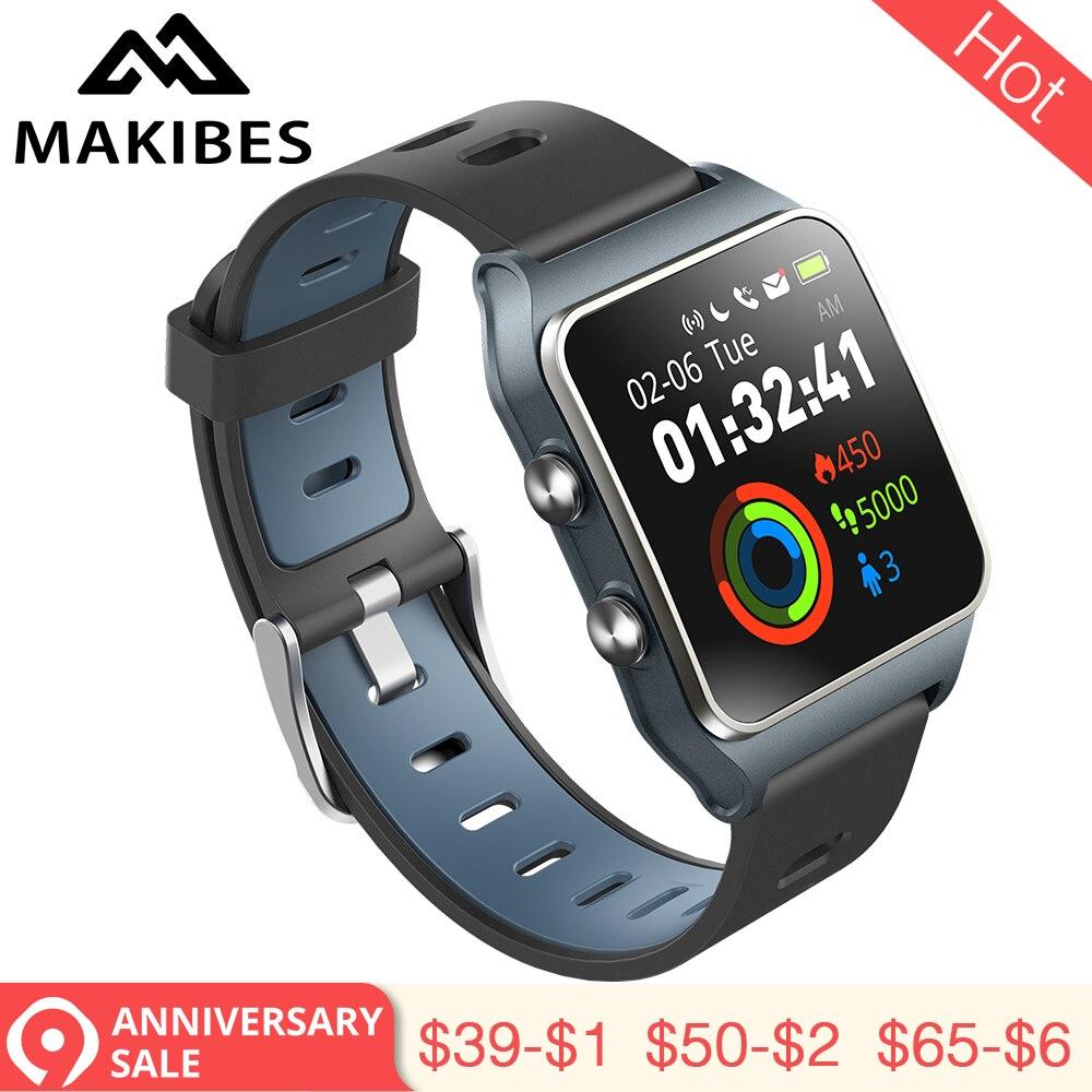 3,28 RU/ES in lager! Strava Makibes BR3 Männer GPS Smart uhren SmartBand IP68 Wasserdichte Fitness tracker für Xiaomi Telefon MI8 IOS