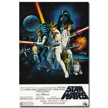 Star Wars Retro Art Silk Fabric Poster