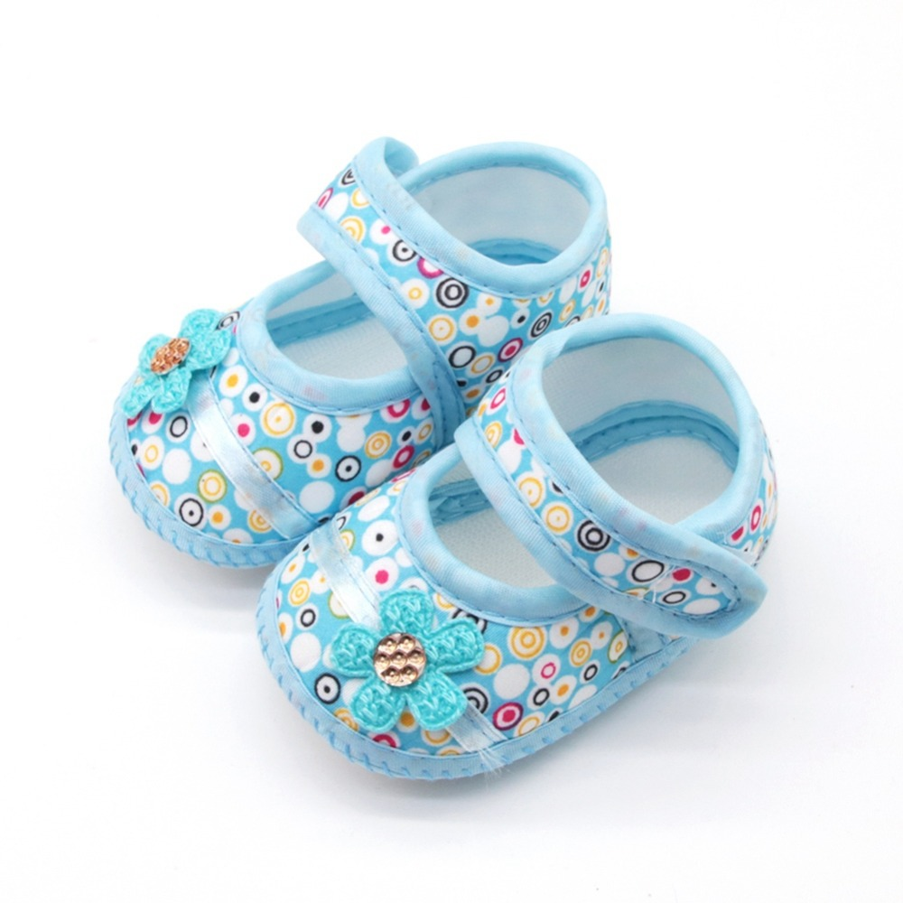Baby Girl Breathable Anti-Slip Flower Shoes Casual Sneakers Toddler Soft Soled First Walkers 0-18M