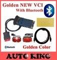 Золотой цвет 2015.1 ds 150new vci cdp Bluetooth tcs cdp автомобили/грузовики диагностический инструмент cdp 2015.3 один год гарантии Бесплатная Доставка