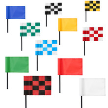 Golf Green Flag Practice Putting Training Green Flag Nylon Golf Flag Pure Color Checkered Golf Target Flags(China)
