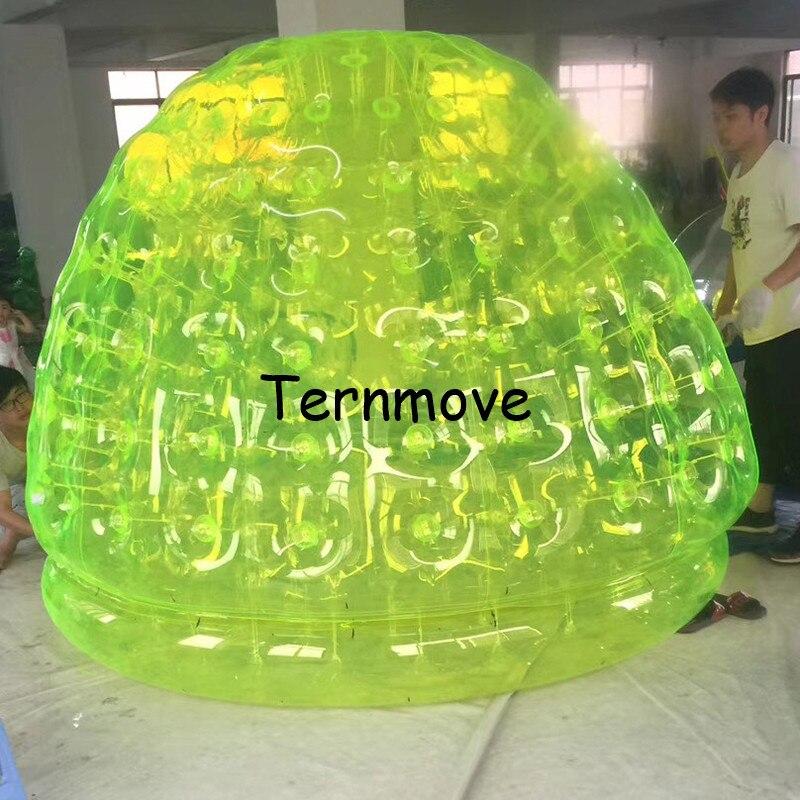 Tente gonflable géante de chapiteau gonflable extérieur de maison de café tente gonflable de bulle verte gonflable d'hôtel de camping de partie