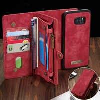 Coque de téléphone sFor Samsung Galaxy A20 A20E A30 A40 A70 A80 A50 étui 2 en 1 portefeuille multifonction en cuir aimant Coque arrière