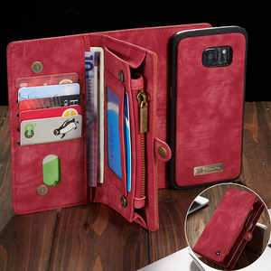 Image 1 - Phone Case sFor Samsung Galaxy A20 A20E A30 A40 A70 A80 A50 case 2 in 1 Multi functional Wallet Leather Magnet back cover Coque