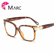 MARC 2019 Women Eyeglasses Fashion Frame Clear lens Metal Trend Transparent Glasses High quality Personality Oversize 97667 1
