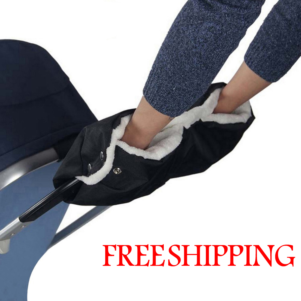 Baby stroller accessories winter waterproof anti-freeze pram hand muff baby carriage gloves,baby buggy clutch cart muff glove