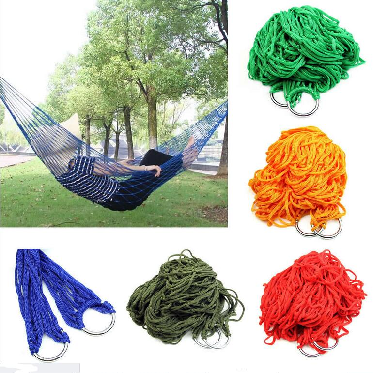 Camping & Hiking Humorous 1pc Sleeping Hammock Hamaca Hamac Portable Garden Outdoor Camping Travel Furniture Mesh Hammock Swing Sleeping Bed Hot Selling Strong Packing