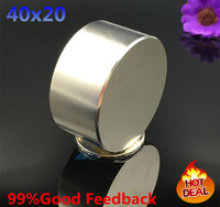 Free Shipping 2PC 40mm X 20mm 40x20 Round Cylinder Neodymium Permanent Magnets 40 20 N50 NEW