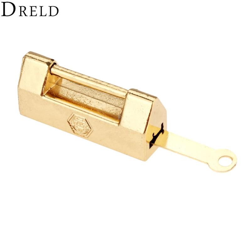Dreld 43 19mm Retro Gold Furniture Decorative Padlock