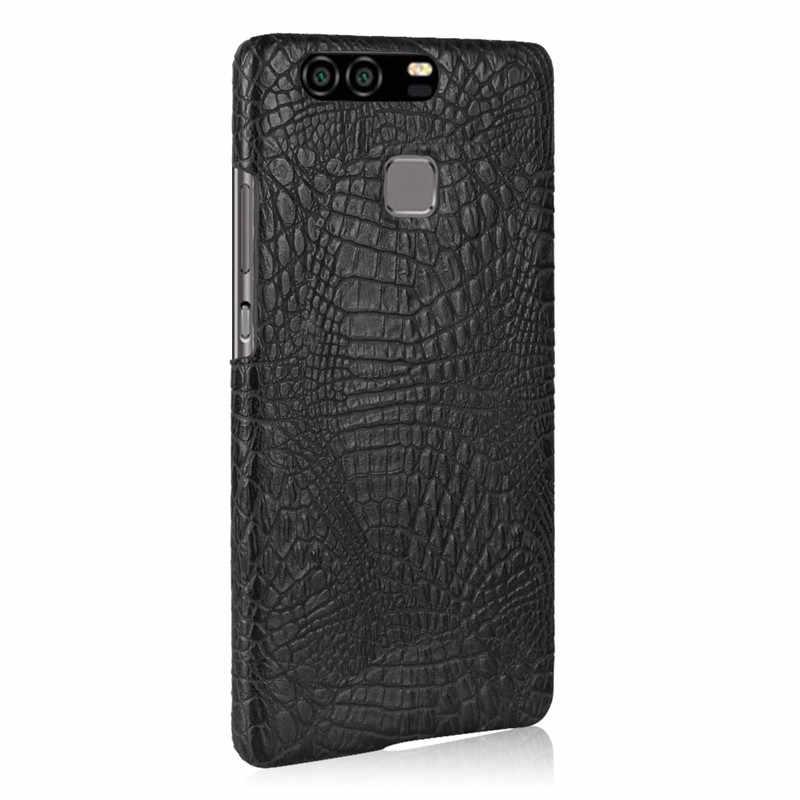 Huawei P9 caso 5,2 pulgadas de lujo de cuero PU de plástico duro cubierta del teléfono para Huawei P9 EVA-L09 EVA-L19 EVA-L29 P 9 P 9