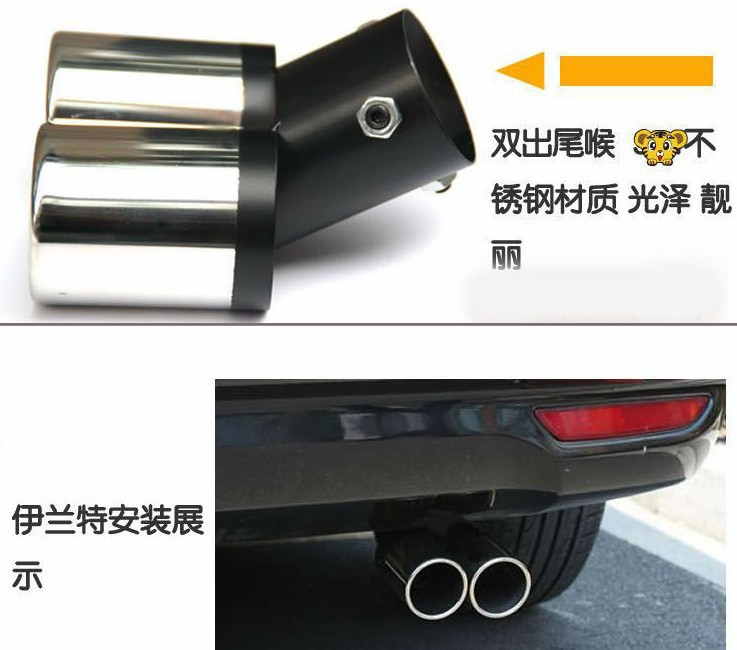 Rear Exhaust Muffler Tip End Pipe For HYUNDAI SOLARIS i25 Accent I30 2010 2011 2012 2013 наклейки nex 2011 2 hyundai solaris i30 hb20 s stying
