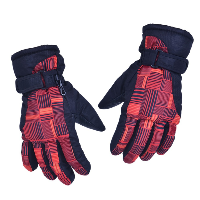 Women Winter Waterproof Warm Ski Gloves Outdoor Sports Snow Skiing Gloves Windproof Thickening Skiing Gloves 2018
