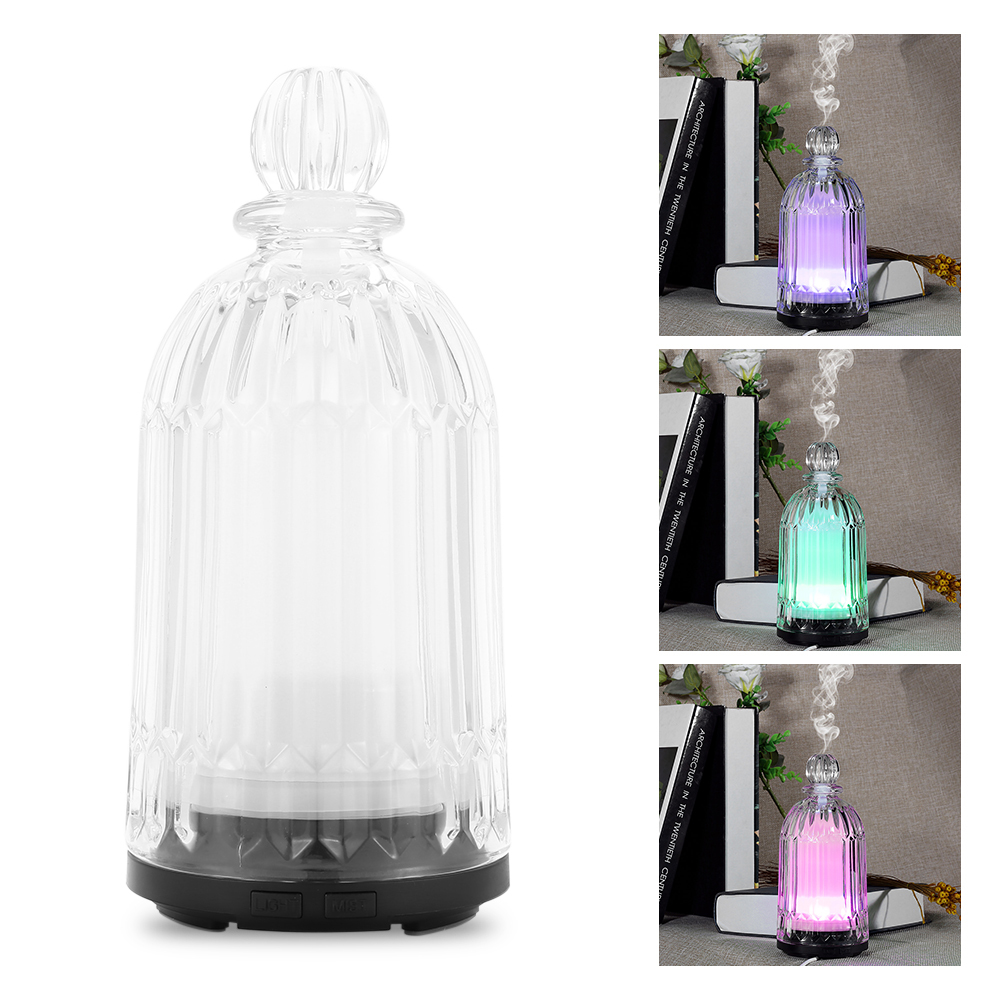 120ml Fimei Air Humidifier oil Essential Home Office Aroma Lamp Aromatherapy Electric Glass Aroma Oil Diffuser LED Night Light