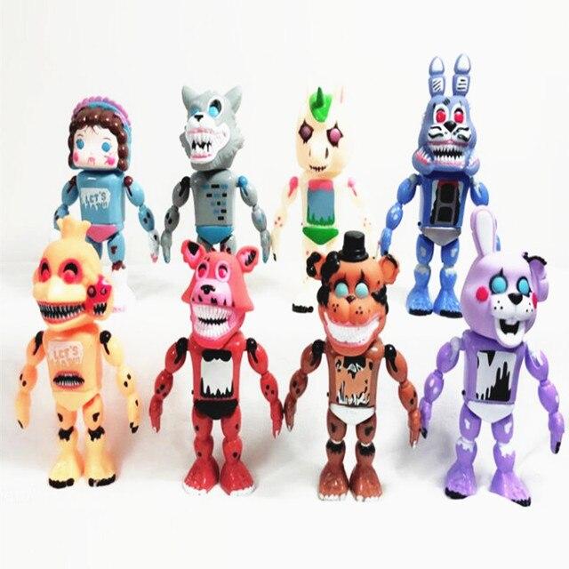 Five Nights At Freddy's FNAF Бонни Фокси медведь Фредди фазбер ночь Фредди кукла игрушки фигурка игрушка с светильник со звуком