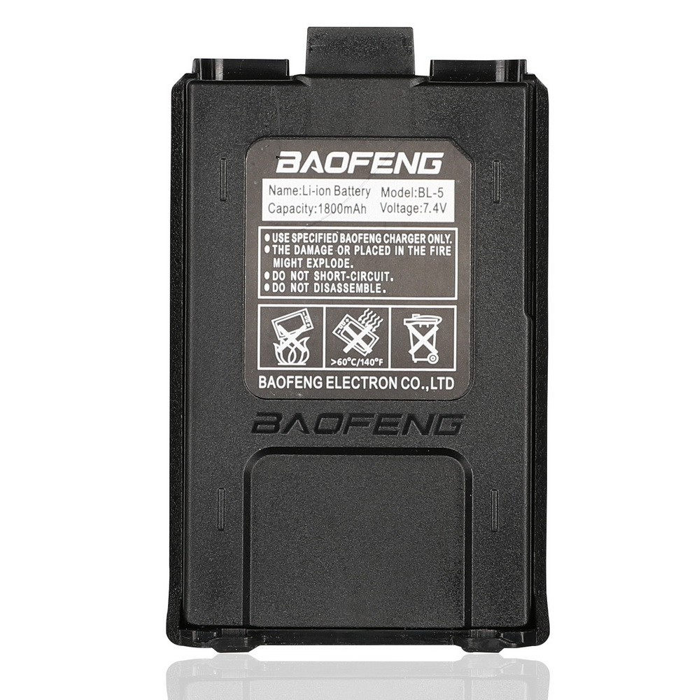 Baofeng UV-5R Original Battery UV 5r 5ra 5re Radio Backup Battery Walkie Talkie 1800mah Li-ion Batteries BL-5 7.4V Rechargeable