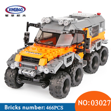 XingBao 03027 Car Series The All Terrain Vehicle Set Building Blocks Bricks Toys For Children Educational Funny Kids Gifts Model 2018 new 1085pcs lepin technic series 20077 the rally car set 42077 building blocks bricks educational funny children toys gifts