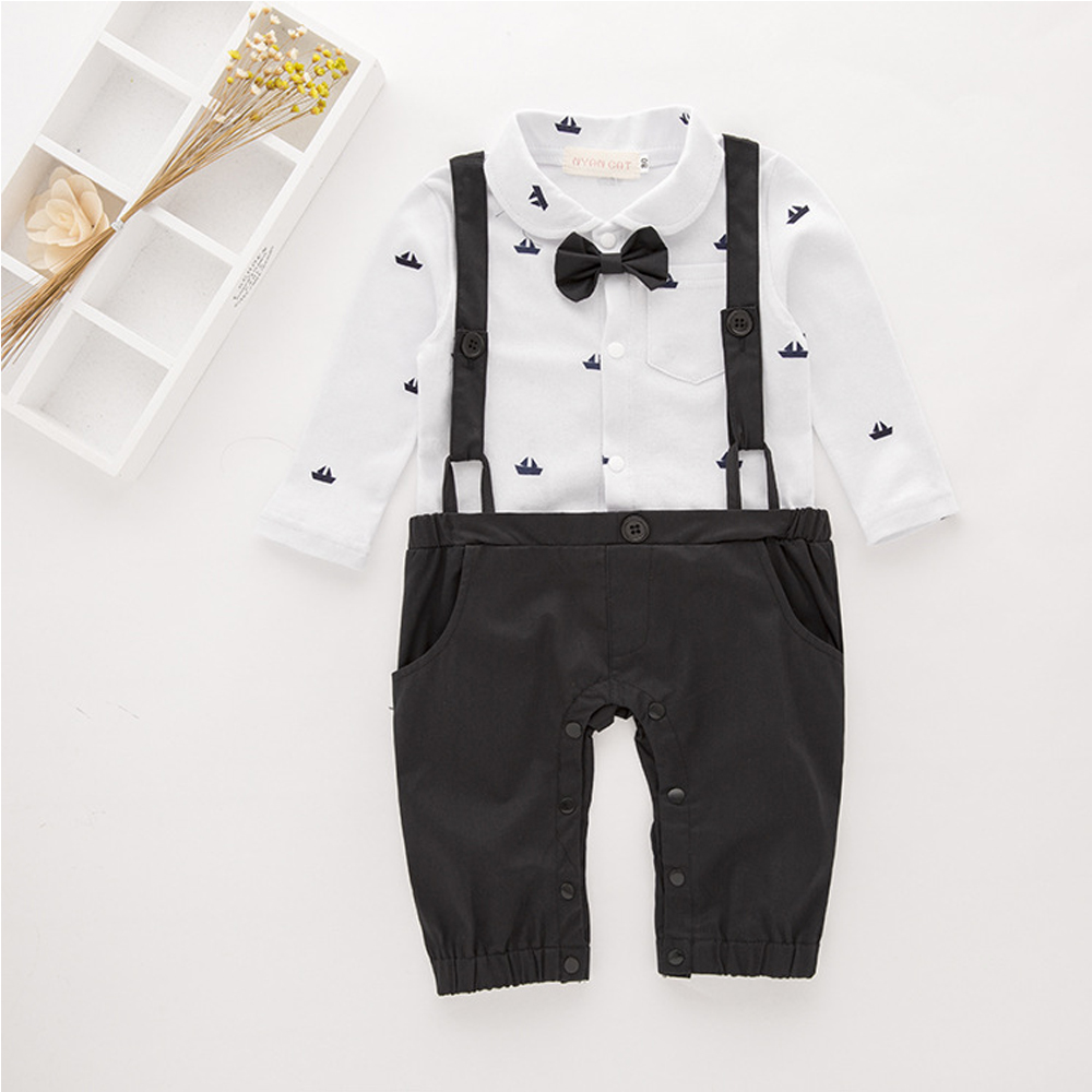 Baby Boy Rompers Autumn Boys Clothing Cotton Roupas Newborn Baby Clothes Cute Baby Jumpsuits Infant Kids Clothing Handsome Ropas baby rompers long sleeve baby boy girl clothing jumpsuits children autumn clothing set newborn baby clothes cotton baby rompers