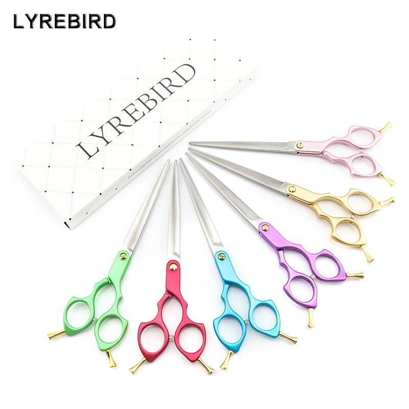 Professional Pet Dog Grooming Scissors 7 Inch Dog Hair Scissors Straight 6 Color Handle Super Japan