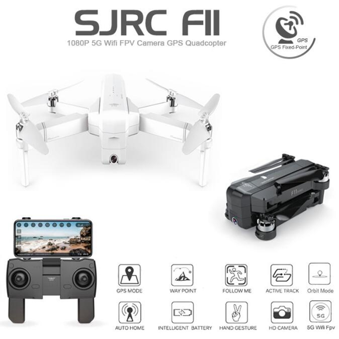 White Original SJRC F11 RC GPS RC Drones Ar.drone Helicopters With 5G Wifi Hd Camera Brushless VS syma x8pro s70w z5 s20w drone