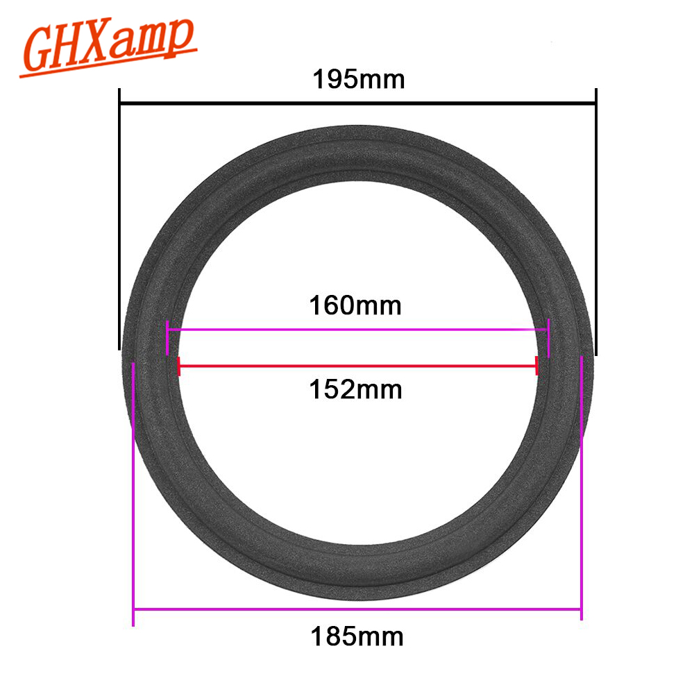 Ghxamp 8 Inch Speaker Suspension Foam Surround Side 195mm Woofer Speaker Repair Parts For A608 A0108A 2PCS