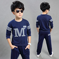 Children's clothing male child spring set 2016 child long-sleeve sweatshirt twinset casual child clothes