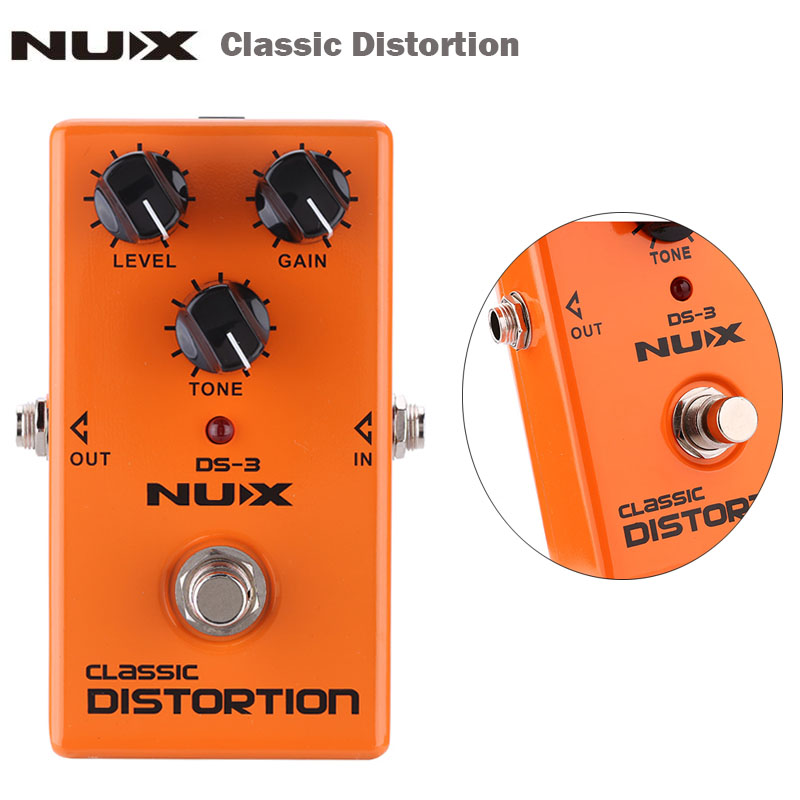 NUX Classic Distortion Guitar Pedal Electric Guitar Effect Pedal True Bypass High Quality Guitar Parts & Accessories nux hg 6 guitar distortion 3 gain stages electric effect pedal true bypass led indicator for rock solo durable free shipping