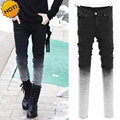 HOT Gradient Slim Fit Grey Stretch Pencil Pants Men Hip Hop Streetwear Boys Students Teenagers Bottoms Cuff Classic Design 28-34