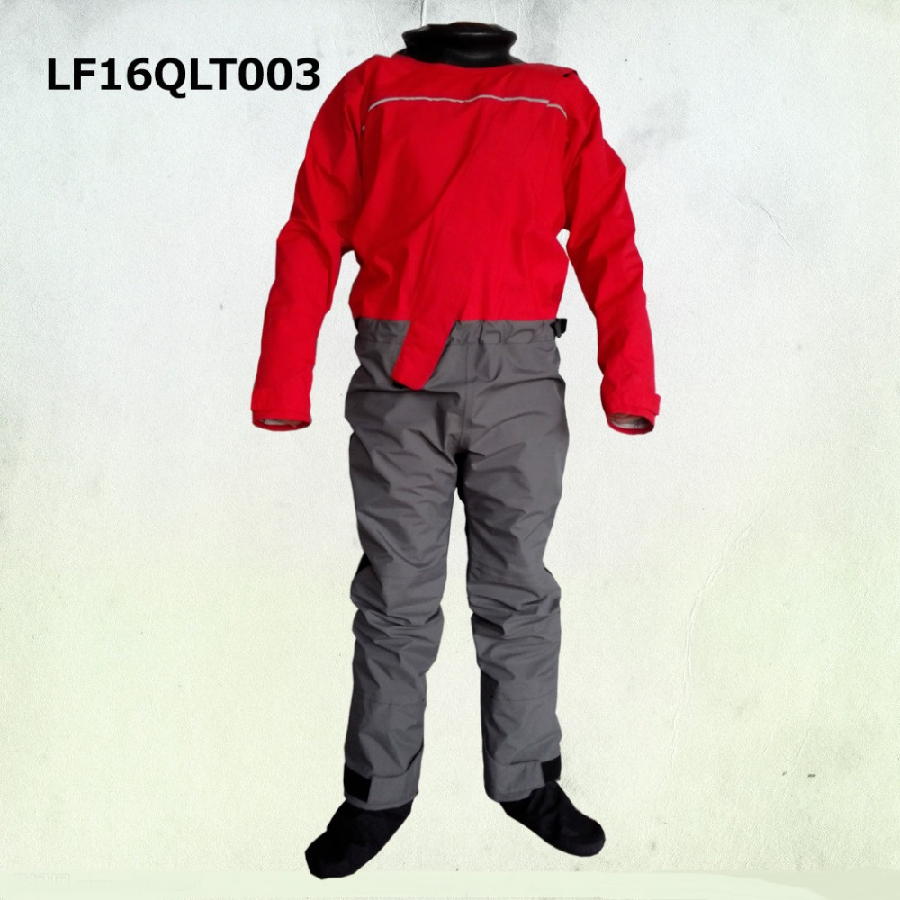 front tizip enter dry suit with latex neck,wrist and fabric socks for rescue sailing,fishing,kitesuring,kayak,kayak fishing kayak suit